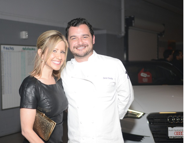 Margot Delaronde and David Corduam at the Audi Central Houston grand opening March 2014
