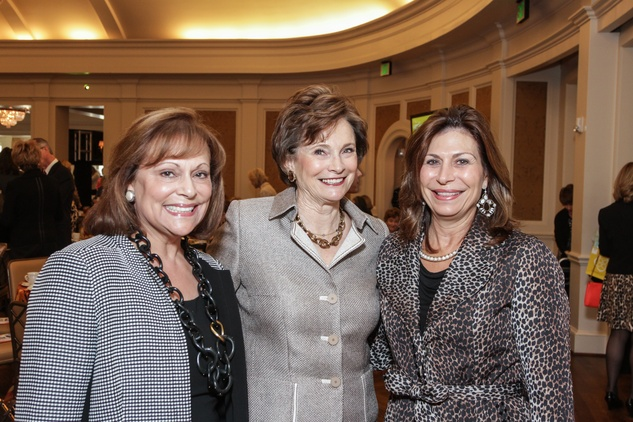 Anny Whyte, from left, Bobbie Nau and Cathy Brock at the MS Society luncheon March 2015