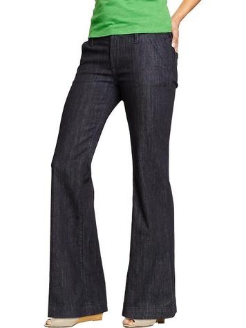 old navy Women's Wide-Leg Trouser Jeans