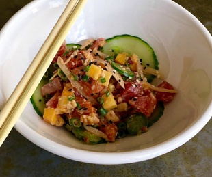 Liberty Kitchen restaurant Hawaiin poke bowl
