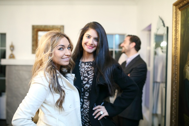 49 Assal Nouri, left, and Affy Haidari at the Baanou Grand Opening Party November 2014