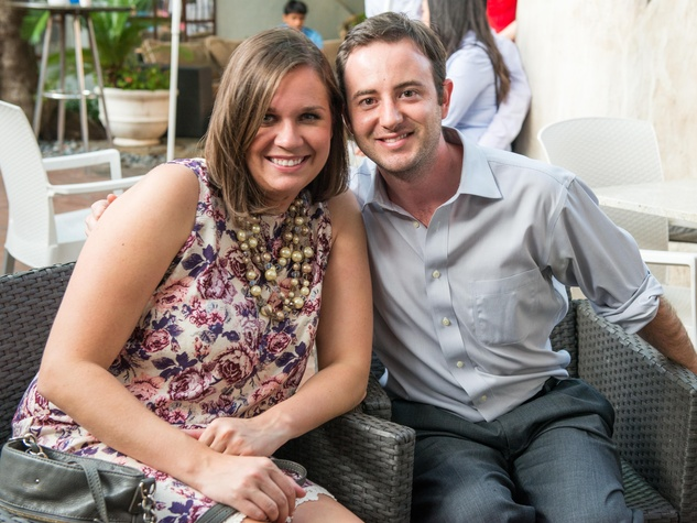 22 Kelli Bednarz and Greg Guarino at the CultureMap Summer Social July 2014