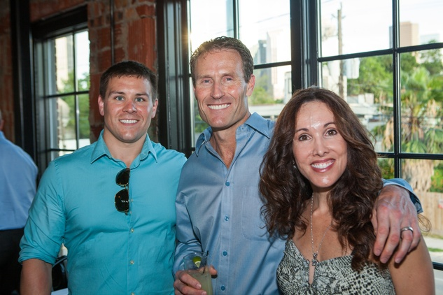 Houston, Pastorini party, June 2015, Garrett Theriot, Dean Theriot, Jennifer Theriot