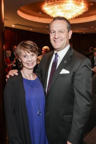 Tammy and Joel Cowley at the Bush Wine Dinner November 2014
