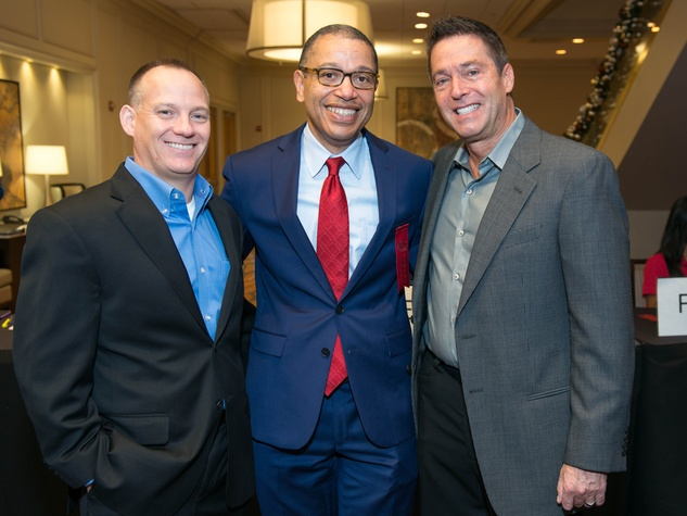4 Rick Dickson, from left, Jonathan Russell and Scott Moster at the AIDS Foundation Houston luncheon December 2014