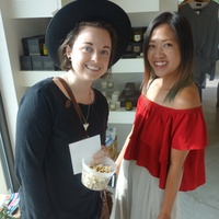 Carra Sykes and Issa Chou at Garmentory party at Saint Cloud
