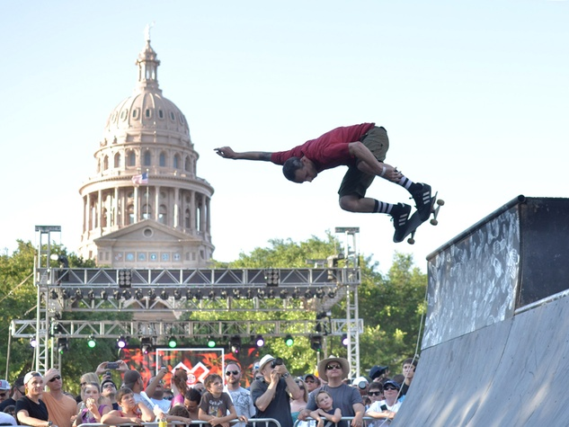 x games rally with the capital in the background