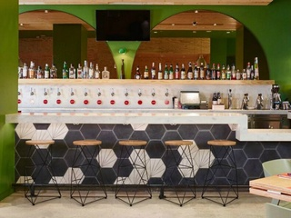 Bar at American restaurant at The Joule in Dallas