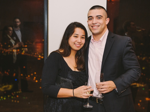 Emily Lin and Alex Saucedo at Houston Symphony Young Professionals Backstage's Luck be a Lady event November 2013