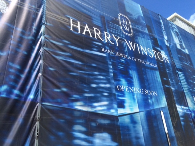 Harry Winston cover of store at River Oaks District