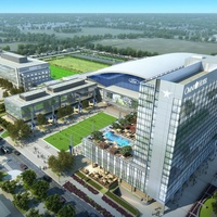 Rendering of Omni Hotel and Dallas Cowboys headquarters in Frisco