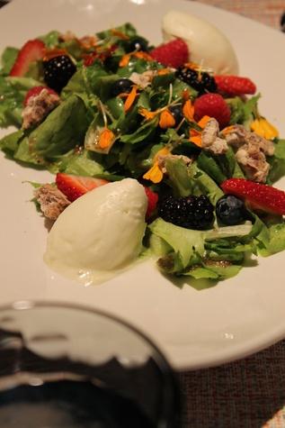 Peska Seafood flower fruit salad