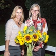 Deborah Brock, left, and Hanne-Elin Rodriguez at Rothko Chapel's Moonrise Party on the Plaza October 2013