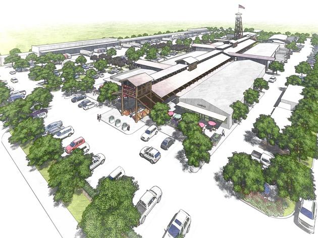Houston Farmers Market Aerial Photo