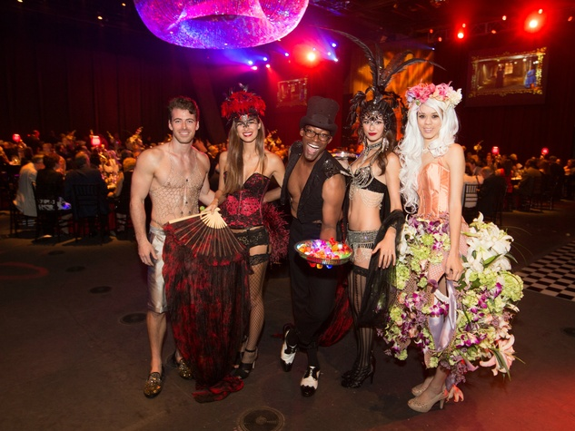 Models at the Dallas Theater Center Centerstage Gala 2015