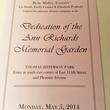 Program Ann Richards Memorial Garden in New York May 2014