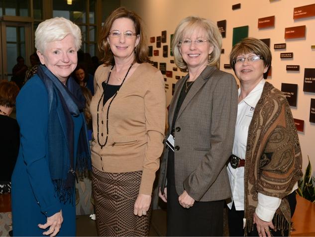 Gloria Byrd, Nancy McMenamy; Deborah Taper, Karen Zapata, TWU Celebration