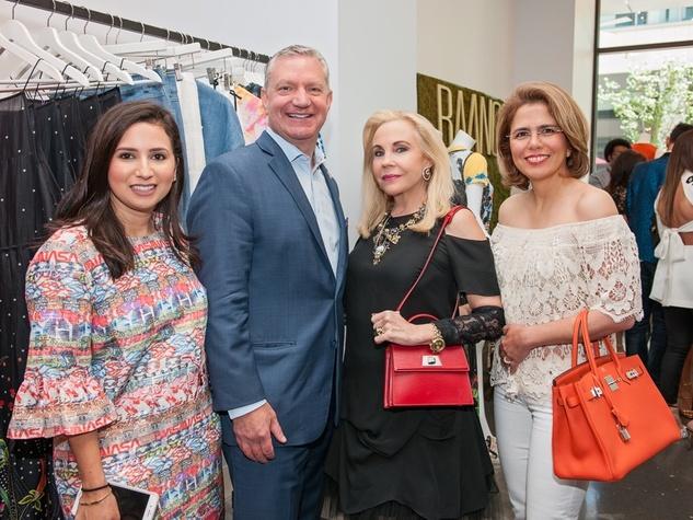 Jennifer Rivera, Mike Waterman, Carolyn Farb, Fariba Taghi at Vivienne Tam appearance at Baanou