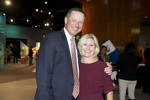 1313 David Wuthrich and Maureen Higdon at the Passport to the World wine and food event at The Health Museum October 2014