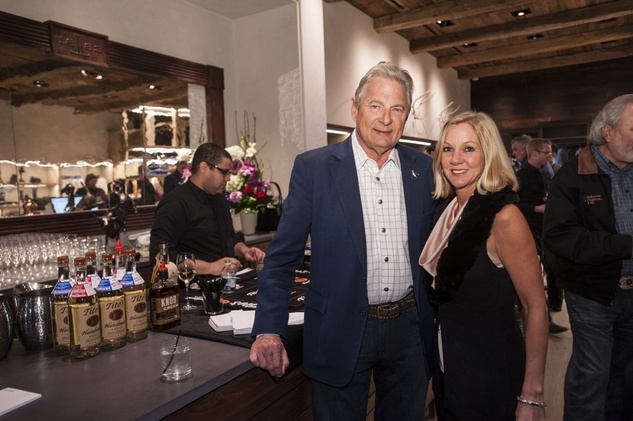 4 7670 Charles Ward and Tammy Beeson at the Lucchese Grand Opening February 2015
