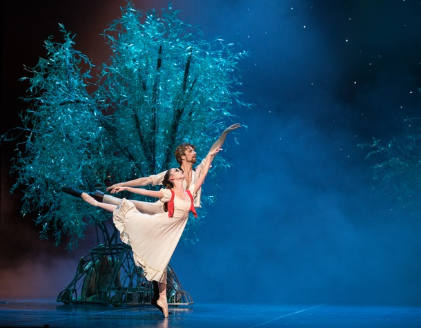 Houston Ballet A Midsummer Night's Dream dress rehearsal pics September 2014 Emily Bowen and Linnar Looris
