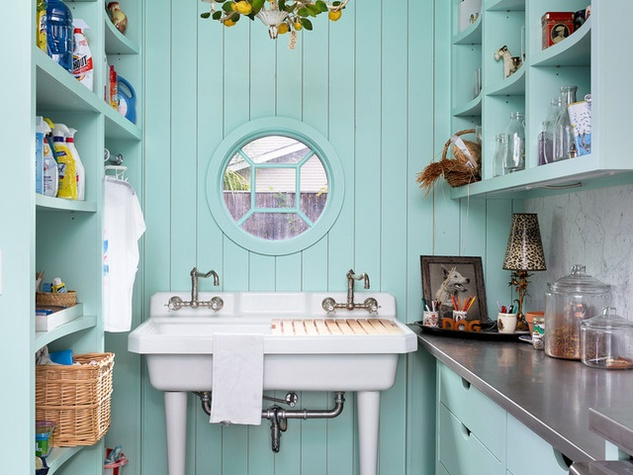 Houzz Houston house home Federalist-Style wash room