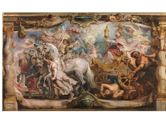 Peter Paul Rubens, The Triumph of the Church, c. 1625, oil on panel, Museo Nacional del Prado, Madrid.