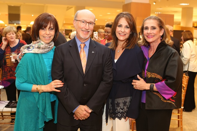 Holocaust Museum Houston Butterfly Project, March 2016, Eileen Weisman (Board Member), Mark Mucasey (Board Member), Tali Blumrosen (Butterfly Project Chair), Gail Klein (Board Chair)