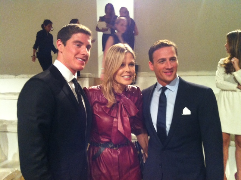 Conor Dwyer, Ryan Lochte, Mary Alice Stephenson, fashion week, September 2012