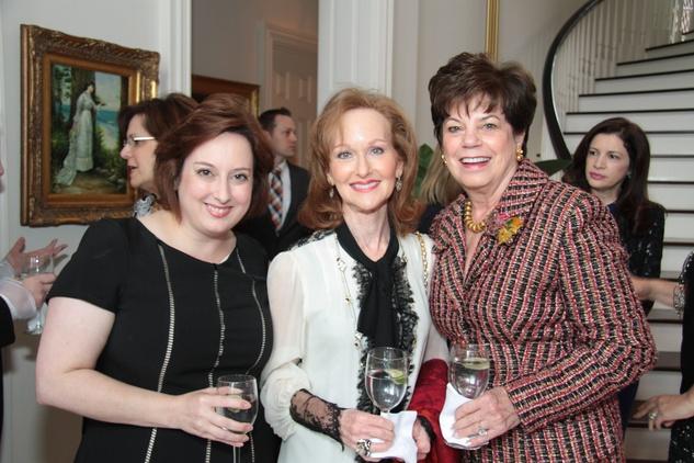 Michelle Stoddard, Carol Sawyer, Andy Delery, Crohn's & Colitis luncheon, March 2014