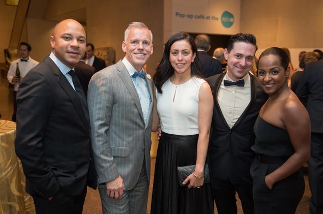 News, Shelby, MFAH Rothko opening, Sept. 2015 Michael Nicholes; Jim Gray; Rosie Ramirez; Damon Parker; Shay Groves;