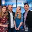 8 Danielle Mauz, from left, Brandon Cooper, Teresa Grim and Tony Moles at the Artesa wine tasting at Cru March 2014