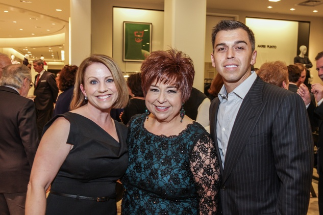 Jan Mendenhall, from left, Trini Mendenhall and Oniel Mendenhall at the Women of Distinction announcement party October 2014