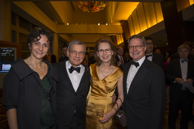 5 Natalye Appel, from left, John Casbarian, Linda Sylvan and Fred Clarke at the Rice Design Alliance Gala November 2014