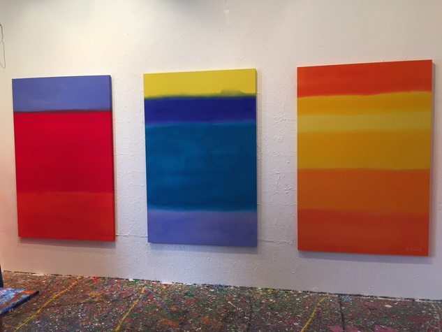 Van McFarland Houston artist December 2014 studio