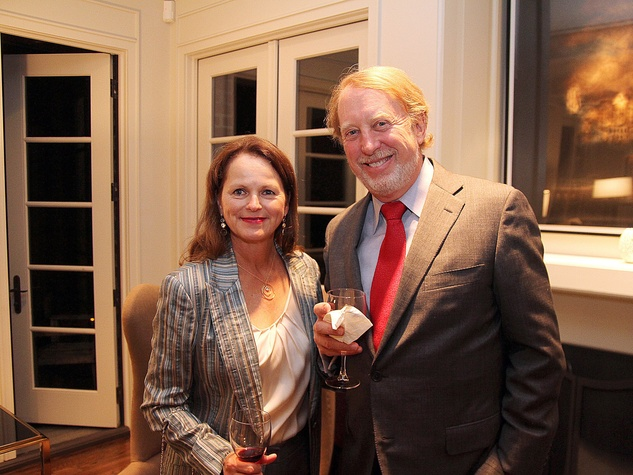 Elaine Finger and Harrison Williams at the Da Camera Opening Night party October 2013