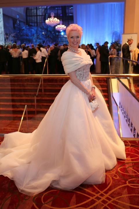 Houston Ballet Ball, Feb. 2016,  Vivian Wise in Stephen Yearick