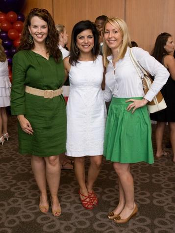 Amanda Degraff, Shivangi Pokharel, Nicole Mangum, Partners Card Kickoff