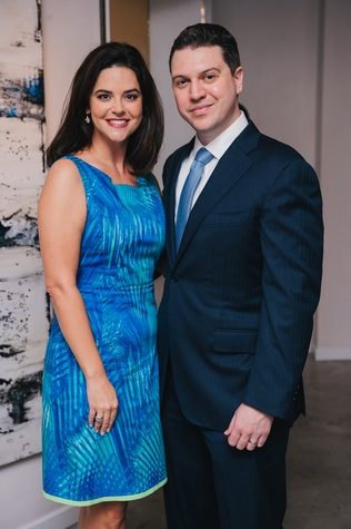 0104 23 Ann and Jonathan Ayre at the Houston Symphony's Young Associates Council season kick-off August 2014