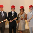 17 Mario Ariza, from left, Dean Gladden, Desyre Morgan and C.C. Connor at the Alley Theatre groundbreaking luncheon July 2014.