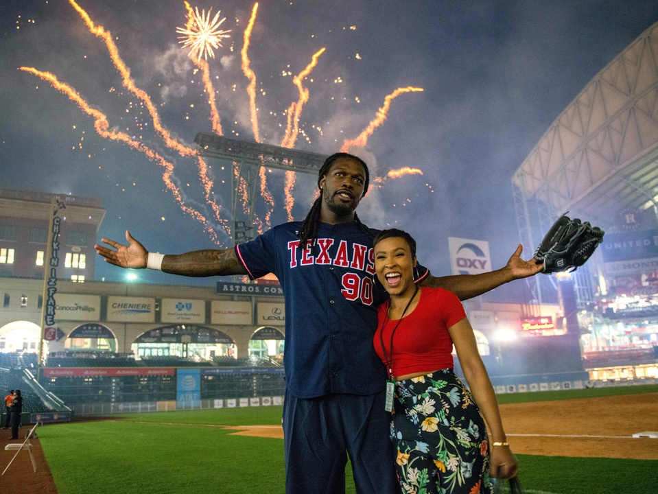 Houston, J.J. Watt Charity Classic, May 2017, Jadeveon Clowney, Najah Martin
