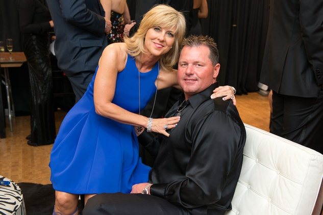 Debbie and Roger Clemens at the Tootsies Love's in Fashion event February 2015