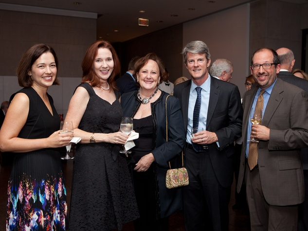 7 Kaylin Weber, from left, Emily Neff, Deborah Dunkum, Chris Weber and Leo Costello at the MFAH opening reception for American Adversaries October 2013