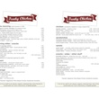 Funky Chicken, Bradley Ogden, menu