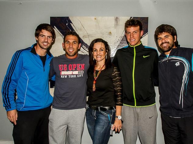 Gastão Elias, Victor Estrella-‐Burgos, Ana Castańo-‐Mears, José Hernandez and Juan Pablo Guzmán, challenger of dallas sponsor and players party