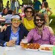 56 Nicolas Martinez, from left, Elena Giralt and Juan Garcia at the Buffalo Bayou Bash April 2014
