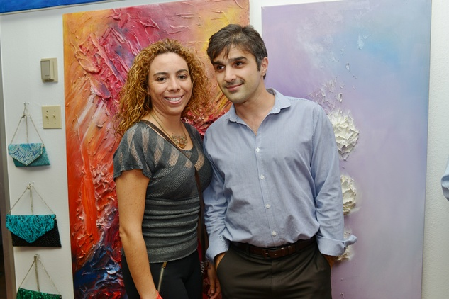 19. Catalina Herrera and Mario Rokhsari at the Hanh Tran Gallery opening June 2014