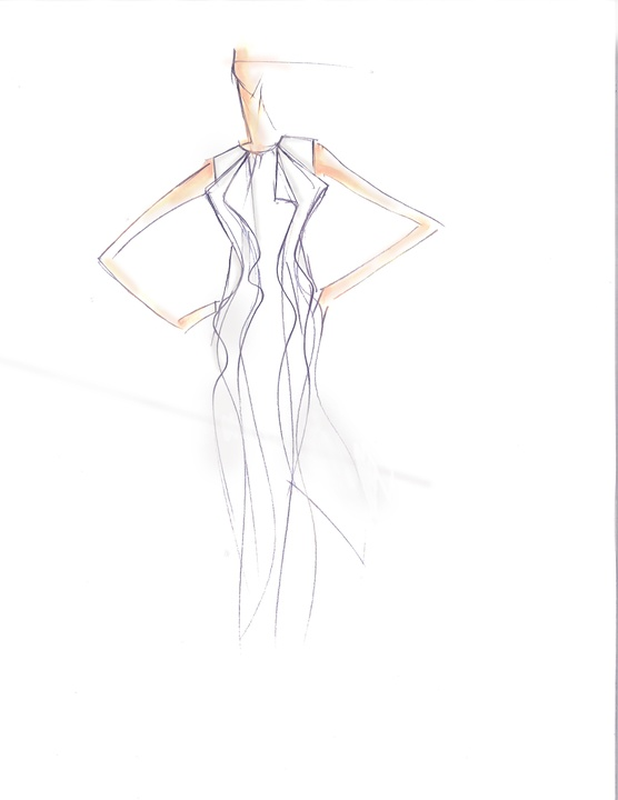 Fashion Week spring 2015 sketch Sept. 2014 BCBGMAXAZRIA