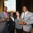 1483 Daniell L, from left, Cathy Mitchell, Naz Diamond and Westley Miller at the Career and Recovery Luncheon July 2014