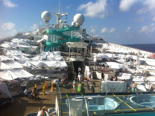 Carnival Triumph cruise ship tent city